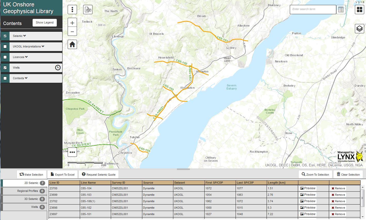 C65 Seismic Lines